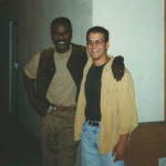 Ed Reiner and Steven Williams on the set of LA Heat